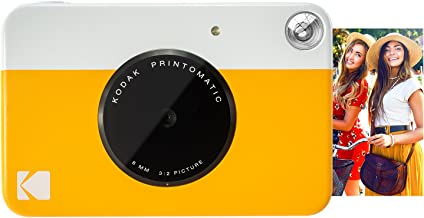 """Zink KODAK Printomatic Digital Instant Print Camera (Yellow), Full Color Prints On ZINK 2x3"""" Sticky-Backed Photo Paper - Print Memories Instantly"""