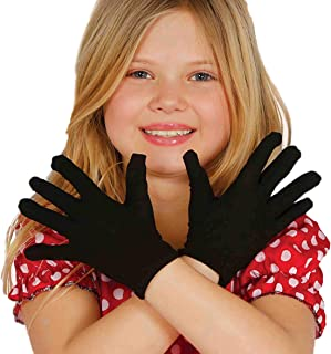Guirca - Handschoenen voor kinderen, eenheidsmaat, zwart (18542).