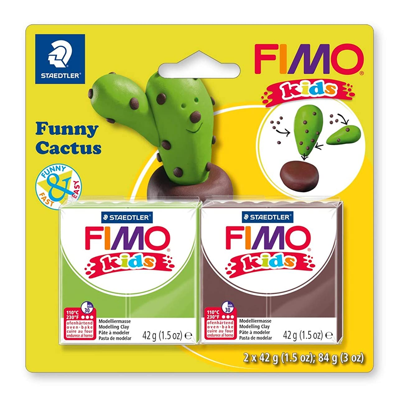 STAEDTLER 8035 13 ST Modelling Clay, Funny Cactus