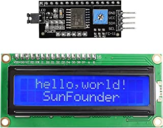 SunFounder IIC I2C TWI 1602 Serial LCD Module Display for Arduino Uno R3 Mega 2560 16x2