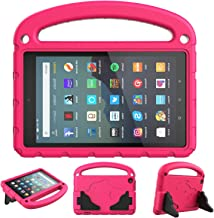 SUPWANT Kids Case for All-New Fire 7 2019 - Kid-Proof Light Weight Protective Case Cover with Handle Convertible Stand for Amazon Kindle Fire 7 Tablet (9th Generation - 2019 Release), Rose