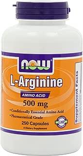 Now L-Arginine 500 mg,250 Capsules