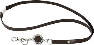 Rexel Id Leatherette Lanyard W/Badge Reel Brown