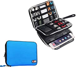 BUBM Double Layer Electronics Organizer/Travel Gadget Bag for Cables, Memory Cards, Flash Hard Drive and More, Fit for iPad or Tablet(up to 9.7