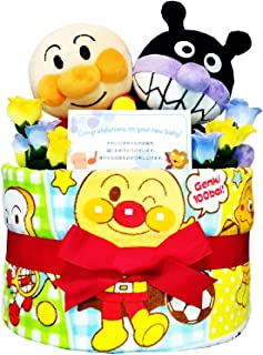 おむつケーキ [ 男の子 / アンパンマン / 1段 ] パンパース S20枚 ( 出産祝い に Sサイズ )1001 ダイパーケーキ 赤ちゃん ベビーシャワー