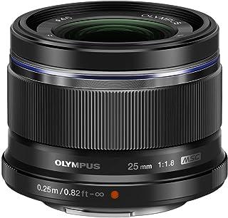 Objetivo Olympus M.Zuiko Digital 25mm F1.8 Longitud Focal Fija rápida Apto para Todas Las cámaras MFT (Modelos Olympus OM-D & Pen Serie G de Panasonic) Negro