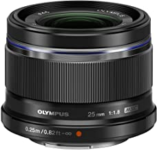 Olympus M.Zuiko Digital - Objetivo para Micro Cuatro tercios (Distancia Focal 25 mm, Apertura f:1.8, diámetro de Filtro 46 mm) Color Negro