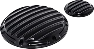 Senkauto Derby Cover and Timer Timing Covers for Harley Sportster XL Iron 883 1200 Nightster 2004 - Later (Black)