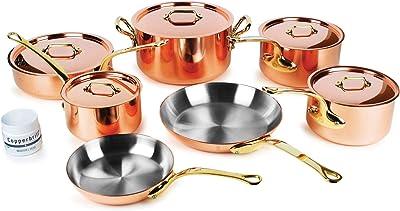 Mauviel M'heritage 250B 12 Piece 2.5mm Copper Cookware Set