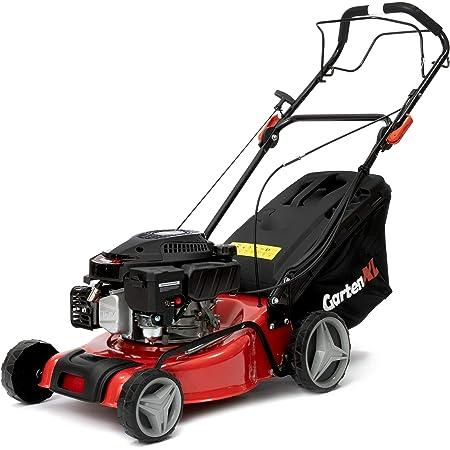 GartenXL 16R-127-M3 - Cortacésped de gasolina , autopropulsado, 40 cm, con tracción a ruedas, para segar, recoger, recubrir con mantillo, incluye sistema de limpieza Q-clean