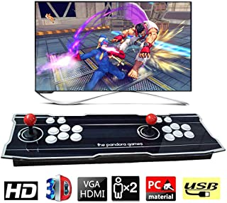 XFUNY Arcade Game Console 1080P 3D & 2D Games 2020 in 1 Pandora's Box 3D 2 Players Arcade Machine with Arcade Joystick Support Expand 6000+ Games for PC / Laptop / TV / PS4 (Black)