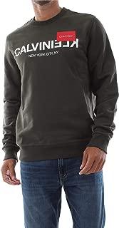 Calvin Klein Men's Crew Neck Reverse Logo Sweatshirt Green