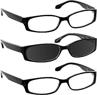 Fashion 3 Pack Reading Glasses Men or Women Comfort Spring Hinges F503 3pks