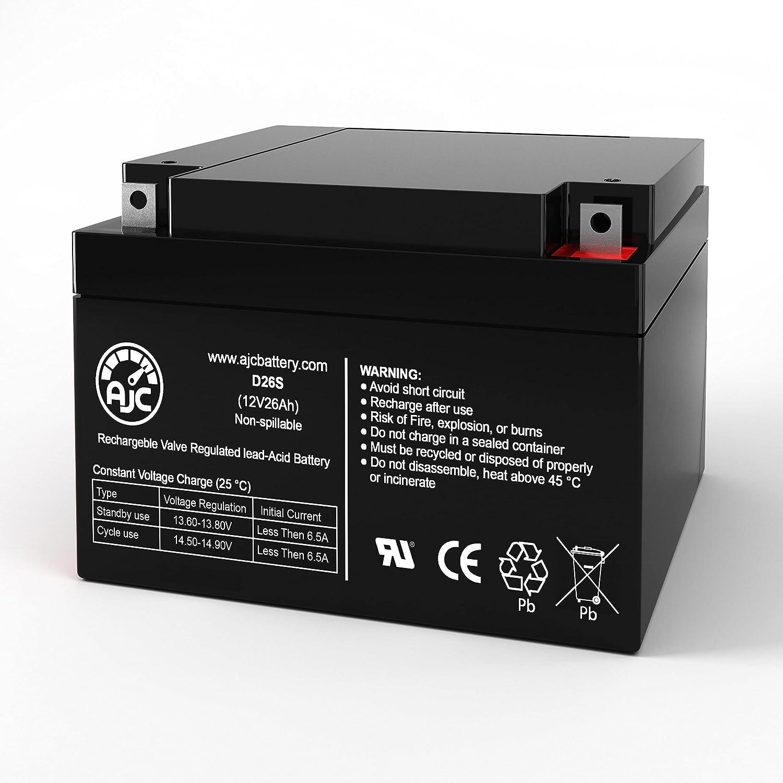 AJC Battery Compatible with Rhino SLA24-12 12V 26Ah UPS Battery