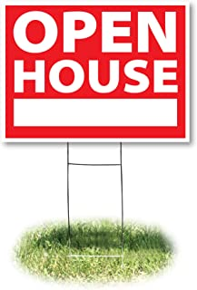 Headline Sign 4732 Yard Sign, Open House, 18 Inches by 24 Inches