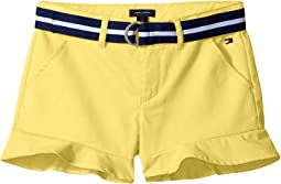 Stretch Twill Ruffle Shorts (Little Kids/Big Kids)