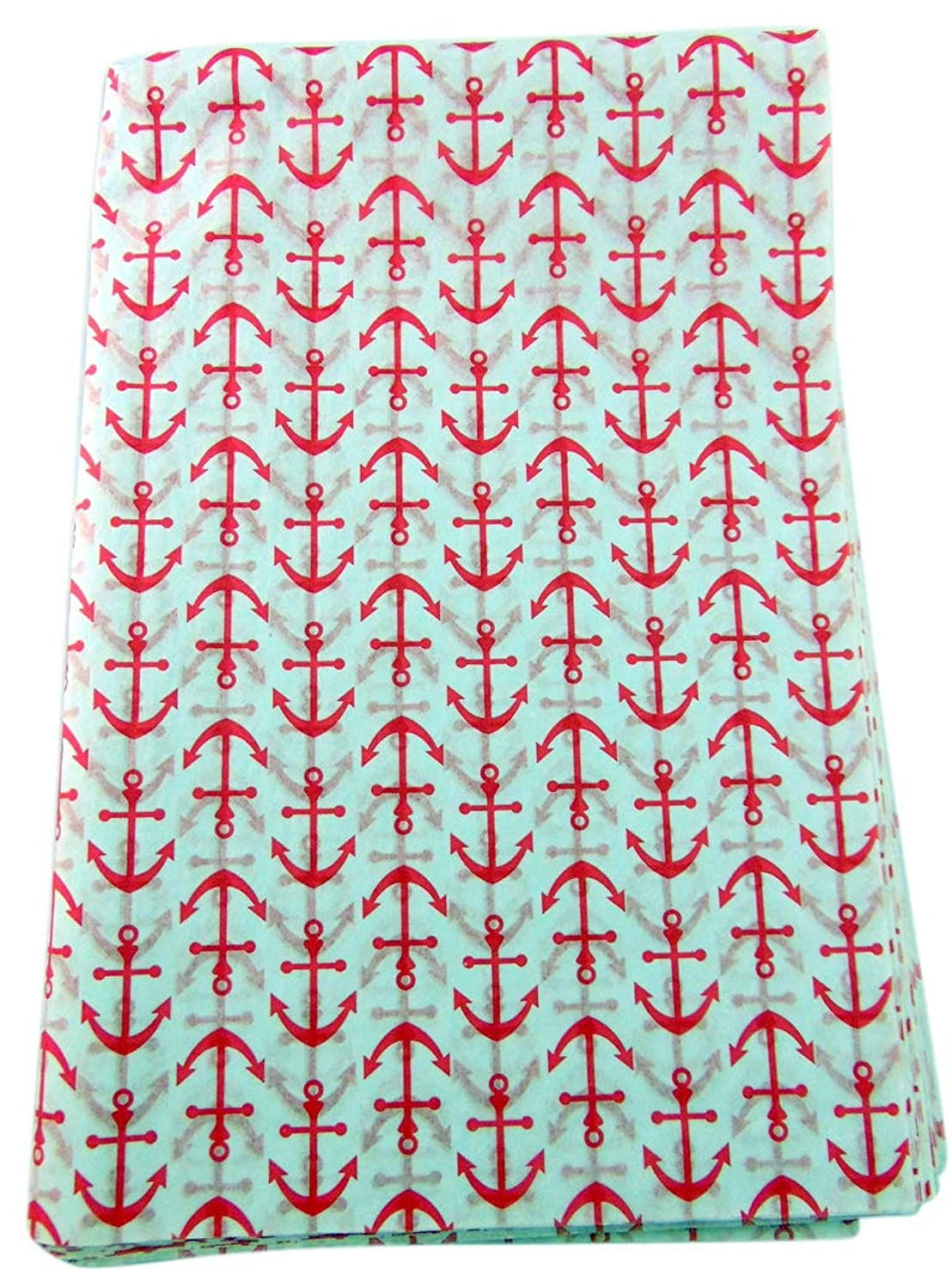 Anchor Tissue Paper for Gift Bags Hot Pink Nautical Anchors 20 inch x 30 inch, Pack of 20