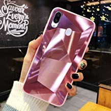URFEDA Compatibel met Samsung Galaxy M20 telefoonhoes Diamond Glitter Case met spiegeleffect Sparkly Bling TPU Siliconen +...