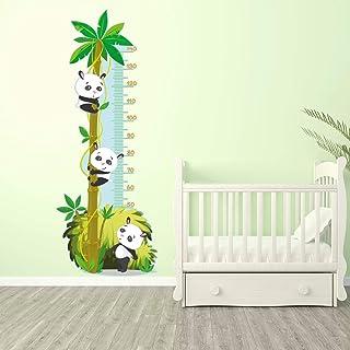 Stickers Adhésifs Toise | Sticker Autocollant Pandas Et Palmier    Décoration Murale Chambre Enfants | 155