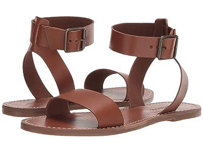 Madewell The Boardwalk Ankle-Strap Sandal (English Saddle) Women