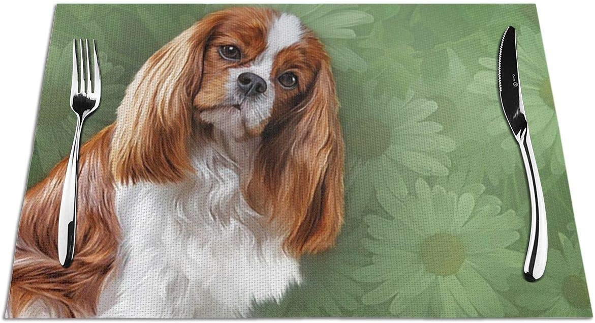 Ahuahua Placemats Dog Cavalier King Seattle Mall Spaniel Se Charles Super special price mat Place