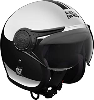 Royal Enfield Chrome Open Face with Visor Helmet Size (XL)62 CM  (RRGHEG000003)