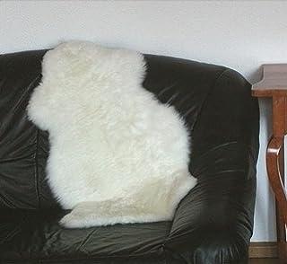 HEITMANN australische Lammfelle naturweiß waschbar, Haarlänge ca. 70 mm, ca. 120x78 cm