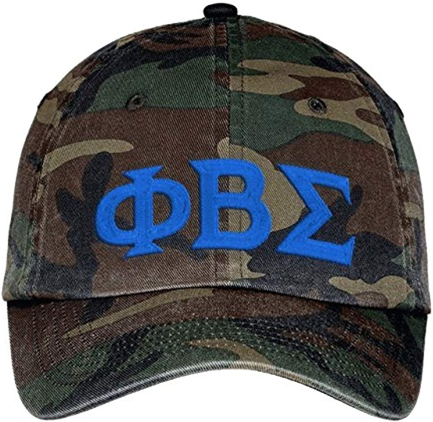 Sigma Outstanding Tau Gamma 5 ☆ very popular Camouflage Hat Lettered