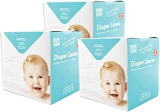 3 Boxes of 100 Bumkins Flushable Biodegradable Baby Cloth Diaper Liner