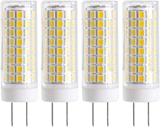 New G8 LED Bulb, Dimmable 7W G8 Bulb, GY8.6 75W Halogen Bulb Replacement, 120V G8 75Watt 750 LM (4 Pack, Warm Color)