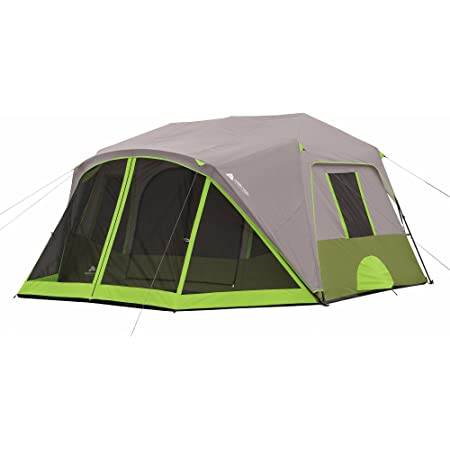 Ozark Trail 9-Person Instant Cabin Tent Camping Outdoors Family with Bonus Screen Room Green by Ozark Trail