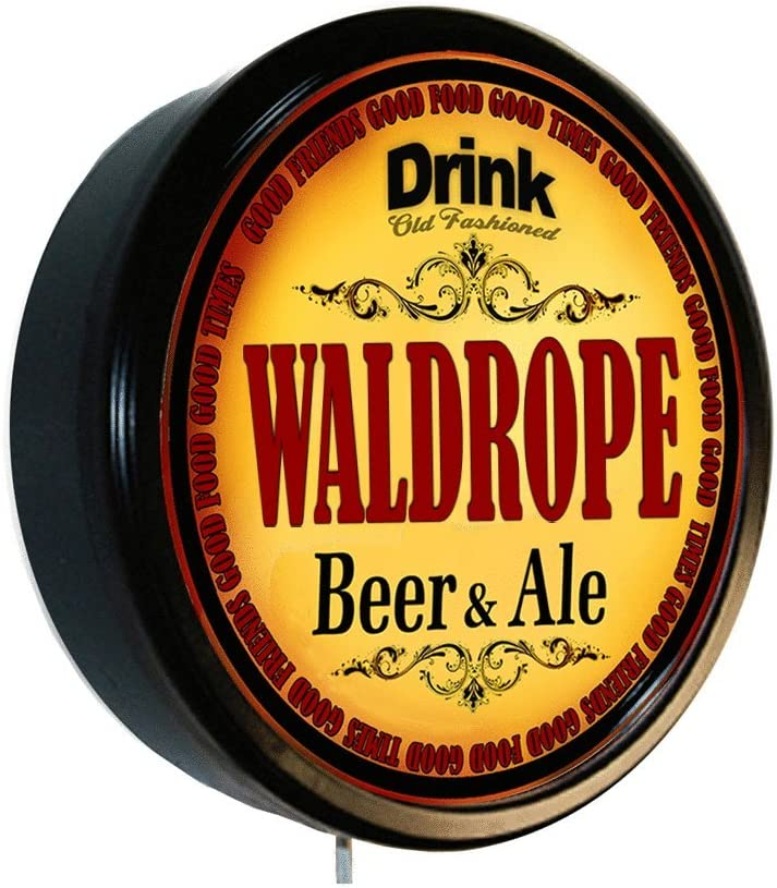 Goldenoldiesclocks Fashionable WALDROPE Beer 2021new shipping free shipping and Ale Lighted Cerveza Si Wall