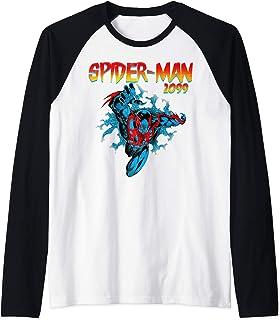Marvel Spider-Man 2099 Retro Jump Logo Manche Raglan