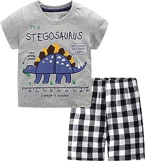 Toddler Boys Summer Shirt and Pants Set Casual Short...