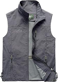 Gihuo Men's Casual Outdoor Lightweight Quick Dry Fish Travel Safari Vest