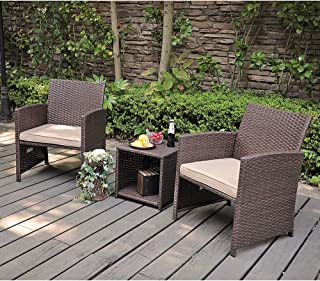 wicker conversation set clearance