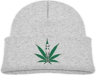 Alien Cannabis Leaf Baby Infant Toddler Winter Warm Beanie Hat Cute Kids Thick Stretchy Cap