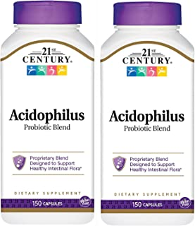 21st Century Acidophilus Probiotic Blend Capsules, 150-Count (Pack of 2)