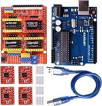 kuman Módulo de expansión para Arduino CNC Shield V3.0 + R3 + 4 Controladores de Motor Paso a Paso A4988 con disipadores de Calor K75