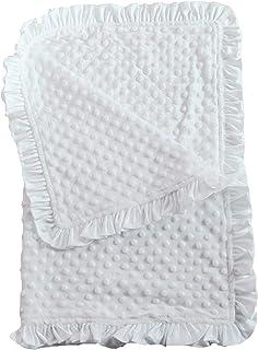 Ocean Sprinkles and Gray Ruffle Blanket