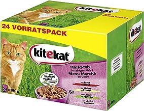 Kitekat Katzenfutter - Nassfutter im praktischen 100g-Portionsbeutel - verschiedene Sorten