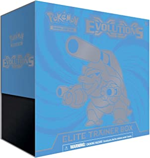 Pokemon Trading Card Game XY12 Elite Trainer Box - Evolutions Blastoise- With 8 XY-Evolutions Booster Packs, 65 Card Sleeves, 45 Energy Cards!