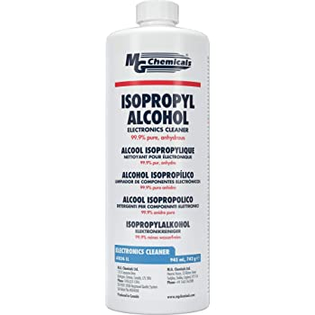 MG Chemicals 99.9% Isopropyl Alcohol Electronics Cleaner, 945 mL Liquid Bottle, Clear, 1 Quart Pack (824-1L)