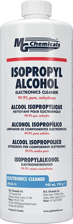 MG Chemicals - 824-1L 99.9% Alcohol Isopropyl Cleane Electronics Max 78% OFF Atlanta Mall