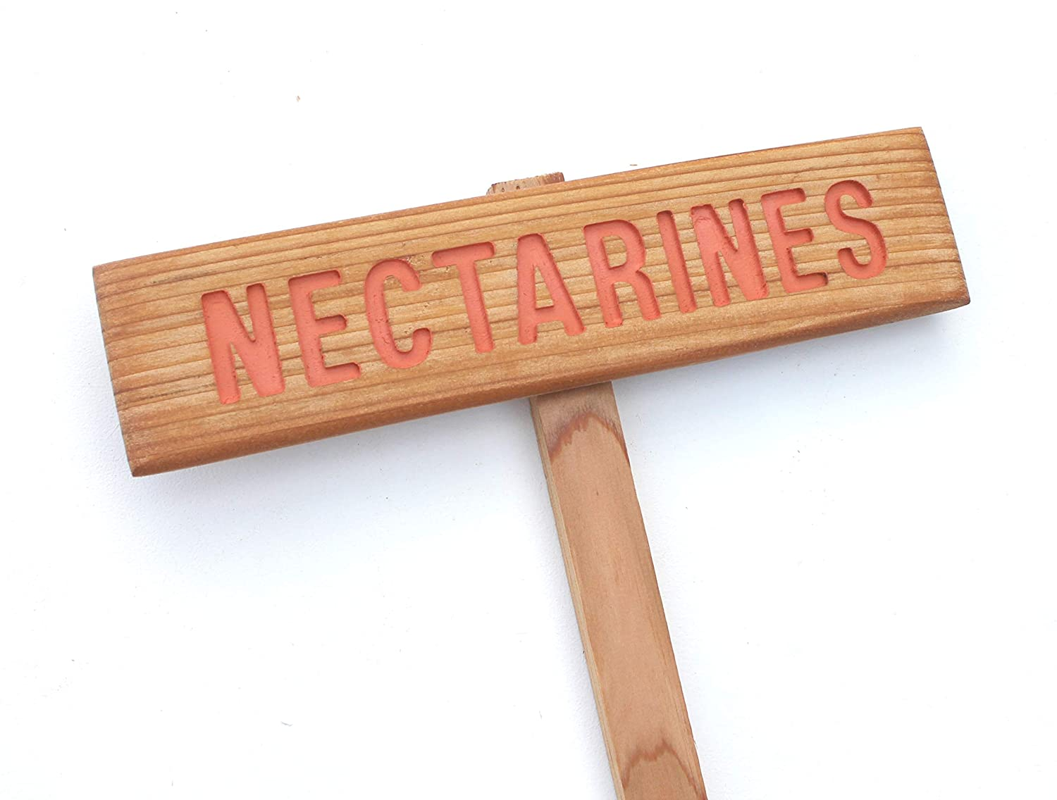Limited time sale Genuine NECTARINES Garden Tree Marker. Sign Fruit Stake
