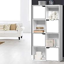 Artiss 8 Cube Storage Units Wooden Display Shelf Bookcase White - 119(H) x 60(L) x 29.5(W)