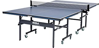 JOOLA Tour - Competition Grade MDF Indoor Table Tennis Table with Quick Clamp Ping Pong Net Set - 10 Minutes Easy Assembly - USATT Approved - Ping Pong Table with Single Player Playback Mode
