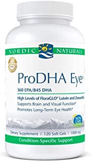 Nordic Naturals ProDHA Eye, Lemon - 120 Soft Gels - 1460 mg Omega-3 + FloraGLO Lutein & Zeaxanthin - Long-Term Eye Health,...