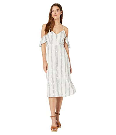 Volcom Winding Roads Dress (White Combo) Women