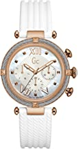 GC Women's Gc CableChic 38mm White Silicone Band Steel Case Quartz MOP Dial Analog Watch Y16004L1